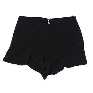 Free People Black Flowy Shorts